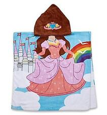 Kids Beach Towel Printed Hooded  Superhero Princess Pirate Mermaid