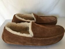 $110 Ugg Australia Ascot Chestnut Suede/fur Men Slippers Size 9