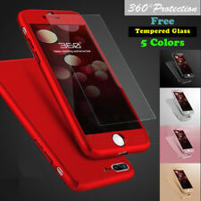 360° Protective Hard Thin Case Cover+Screen Protector For iPhone X 6 6S 7 8 Plus