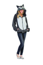 Gray Wolf Hoodie Adult Costume by Costumes4Less