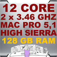 Mac Pro 5,1 12-Core (2 x 3.46GHz) HIGH SIERRA 10.13 • A1289 • 128GB RAM • WiFi