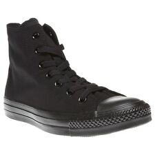 New Boys Converse Black All Star Hi Canvas Trainers Lace Up