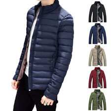 Mens Warm Cotton Padded Down Coat Winter Slim Thick Casual Outerwear Jacket Tops
