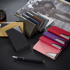 Leather Stainless Steel Business Name Card Case Holder with Magnetic