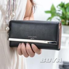 women lady clutch wallet long purse pu wallet phone case cahs holder handbag