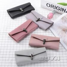 Women long wallet clutch bag card cash holder PU Leather handbag purse