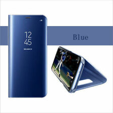 LUXURY CLEAR VIEW MIRROR FLIP HARD PC LEATHER CASE COVER FOR SAMSUNG GALAXY