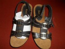 """NEW G.H.Bass 5.5M Giselle Brown&Bronze Buckle Adjustable Ankle Strap Sandal 1.5"""""""
