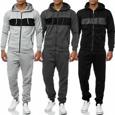 Men's Sports Tracksuit Tracksuit Sweat Hoodie Zip Trousers Training Cozy WOW