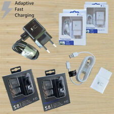 OEM Fast Charging Micro/Type-C Cable + US/EU Wall Travel Charger For Samsung