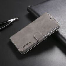 Gray Flip Case PU Leather Wallet Purse Hybrid Stand TPU Cover For iPhone X 10