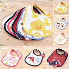 Cartoon Toddler Lunch Bibs Burp Cloths Baby Girl Boy Towel Saliva Waterproof  RE