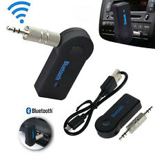 Wireless Bluetooth AUX Audio Stereo Music Home Car Receiver 3.5mm Adapter Mic