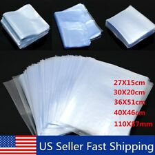 25~500Pcs 5 Size Transparent Clear Shrink Wrap Film Bag Heat Seal Gift Packaging