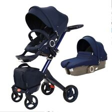 Baby Stroller with Car Seat For Newborn High View Folding Baby Carriage
