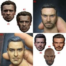 """1/6 Scale Head Sculpt Male Headplay Carving Hot Toys For 12"""" Action Figure Body"""