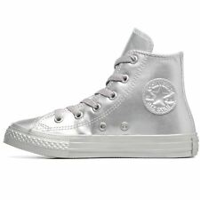 Converse Chuck Taylor All Star Hi Silver Women Hi-top Metallic Trainers Sneakers