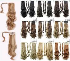 """Stylish 28"""" Long Curly One Piece Clip in Women Hair Extension Synthetic Ponytail"""