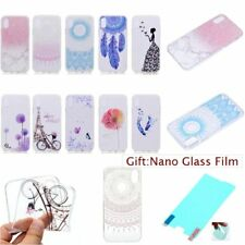 Film + ULTRA THIN FASHION Soft Rubber Back TPU GEL Case Cover For Apple iPhone