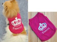 Crown Princess Dog Cat Summer Shirts Vest Clothes Puppy T-Shirt Coat Pet Apparel