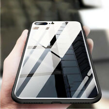 Hybrid Temper Glass Rugged Silicone Bumper Armor Case Cover for iPhone X 8 Plus