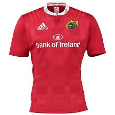 adidas Munster Rugby Home Jersey Mens Red Rugby Union Replica Fan Top Shirt