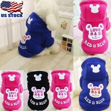 Pet Dog Puppy Warm Clothes Hoody Sweater Costume Jacket Coat Hoodies Apparel USA