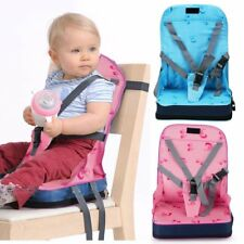 Portable Baby Toddler Dining Feeding Chair Foldable Booster Seat Safety Strap XP