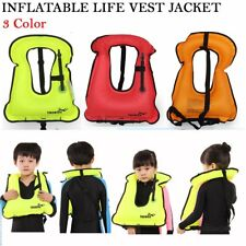 New Kids Life Jacket Snorkeling Gear Swimwear Inflatable Vest Water Sport XP
