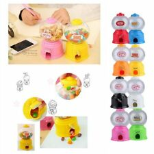 Cute Sweets Mini Candy Machine Bubble Gumball Dispenser Coin Bank Kids Toy~UH