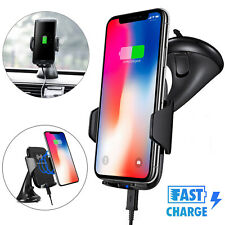 Fast Qi Wireless Car Charger Dashboard Mount Holder for Samsung Note8 iPhone X 8