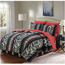 Bed In A Bag Comforter Set Complete Bedding Sheets Twin Full Queen King Zebra