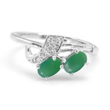 925 Sterling Silver Ring with Green Onyx Natural Gemstone Oval Cut eBay