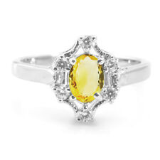 925 Sterling Silver Ring with Oval Cut Natural Citrine Gemstone Handmade