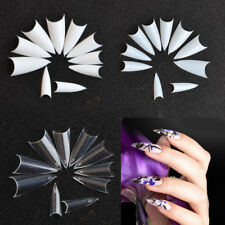 Stiletto 500PCS Tips Nail Art Tool for Acrylic French False UV Gel Long Sharp W