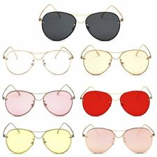 Unisex Vintage Retro Women Men Glasses Aviators Mirror Lens Sunglasses XP