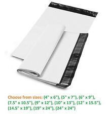 5-10,000 Poly Mailers Shipping Envelopes Self Sealing Plastic Mailing Bags White