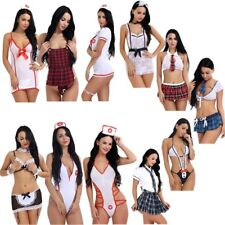 Sexy Women School Girl Uniform Nurse Outfit Fancy Dress Lingerie Cosplay Costume