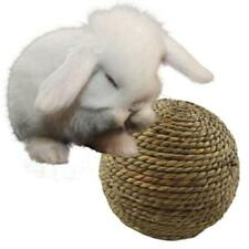 Straw Woven Play Ball Natural Grass Ball Pet Rabbit Hamster Bird Toy New C