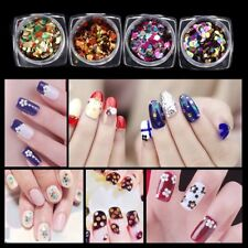 12 Color GLITTER Shiny Ultra-thin Sequins Nail Art Sparkly Decoration DESIGN LCY