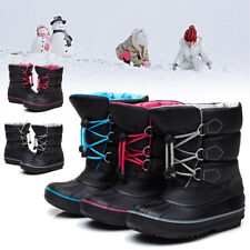 Boys Girls Children Winter Outdoor Warm Snow Boots Waterproof Mid-Calf Shoes