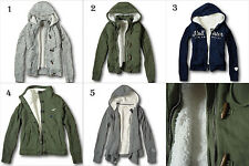 NWT Hollister by Abercrombie&Fitch Women's Sherpa Lined Hoodie Toggle Jacket S