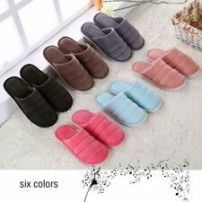 Solid Color Ultra Soft Cotton Fabric Slippers Anti-slip Indoor Floor Slippers XM