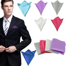 New Mens Silk Solid Pocket Square Hankie Handkerchief Wedding Party Hanky U.S.A