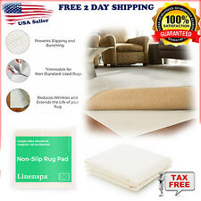 Rubberized Non-Slip Skid Area Rug Gripper Pad Floor Carpet Mat Indoor