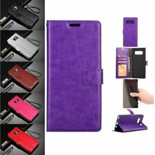 Fashion Leather Card Photo Slot Flip Wallet Cover Case For Samsung Galaxy series