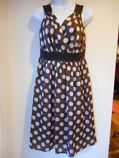 Women's Romy Dress Size Small Brown w/Polka Dots Size XL Multi Striped, XL Teal