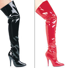 SUSIE, 5'' Heel Thigh High Boots by Ellie Shoes