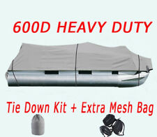 NEW 25-28Ft 600D Waterproof Heavy Duty Fabric Trailerable Pontoon Boat Cover BP