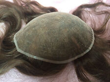 8x10 Full Lace Mens Toupee Indian Human Hair French Lace Men's Hairpiece Wig